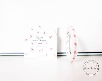 washi tape pink flowers thin