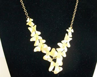 Cascading Gold Flower Necklace