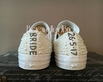 Personalisation for wedding shoes.