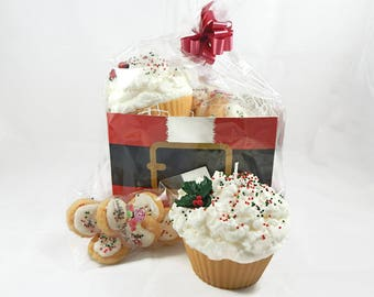 Jumbo Christmas Cupcake Candle & Wax Melt Gift Set