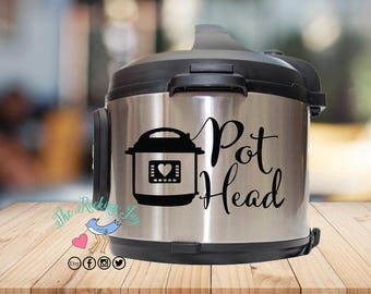 Instant pot Decal, pot head,, instant pot sticker, IP decal, crock pot decal, pressure cooker