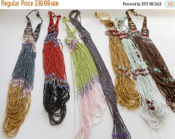 Third Off Sale Traditional Seed Bead Necklaces, Statement Necklaces, Tribal Necklace,Beaded Necklaces, ALL DIFFERENT, see pics