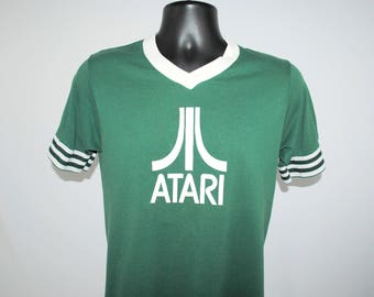 90's ATARI Vintage Gadzooks Style Classic Mall Grunge Raver Nerd Old Video Game Console Promo T-Shirt