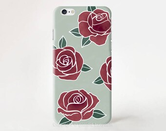 Roses iPhone 7 case flower iPhone 6 case iPhone 7 plus iPhone 6s plus iPhone Se case iPhone 5s case iPhone SE case