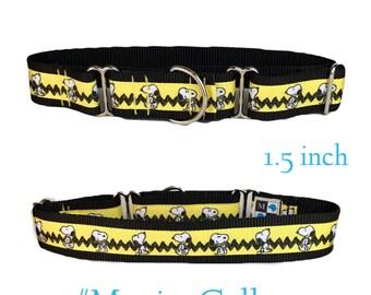 Snoopy yellow dog collar