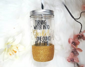 Turning water into gold one ounce at a time. Breastfeeding water bottle, New mom gift, breastfeeding tumbler, mom to be gift, breast is best