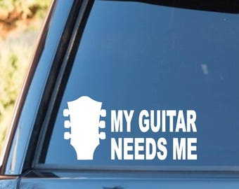 M1095 Acoustic Guitar Oval Decal Sticker