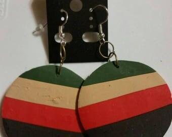 Round Multi Color Pierce Earrings