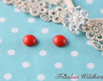 """""""Coral-Buttons"""" vintage stud Earrings 9 mm"""