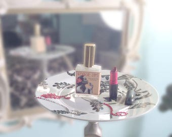 Rouge Lips Hair Perfume - Cherry, Raspberry & French Creme - Argan Hair Milk or Argan Hair Gloss - Horsetail and Marshmallow Extract - 2oz