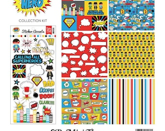 """Echo Park Mini Theme Kit """"Superhero"""""""