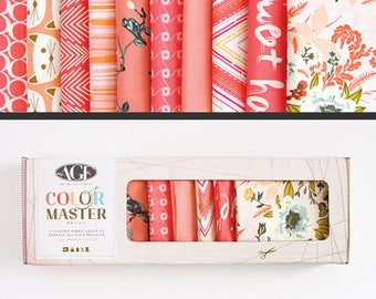 Art Gallery Fabrics, Color Master Collectors Box, Coraline, FREE SHIPPING, coral fabric, blush fabrics, modern blender, quilting bundle