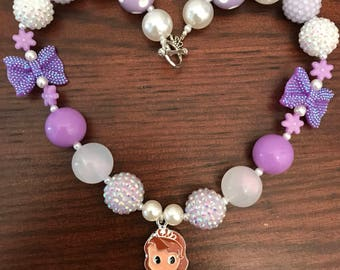 Princess Sophia The First inspired Gum Necklace (Child) Two Styles