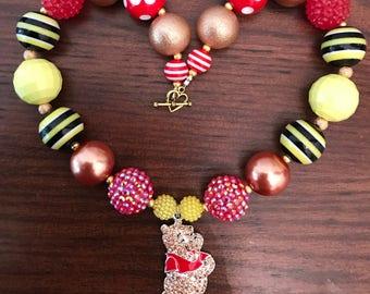 Winnie the Pooh frim Disney Inspired Bubble Gum Necklace (Child).