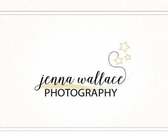 ON SALE Hand Drawn Premade Photography Watermark + Logo with Stars - L037