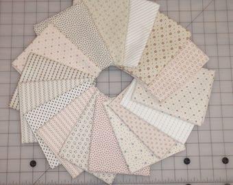 16 Civil War Shirtings Shirthings Cream Lights Moda Windham Reproduction Quilt Fabric Fat Quarter Bundle