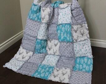 Baby rag quilt | Etsy : rag quilt baby - Adamdwight.com