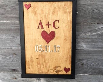 Playing cards wedding sign