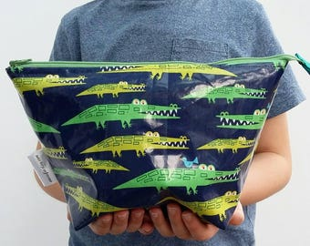 Crocodiles Child's wipe clean wash bag, Alligator Boys's toiletry bag