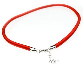 1 x 5mm red silk cord Choker