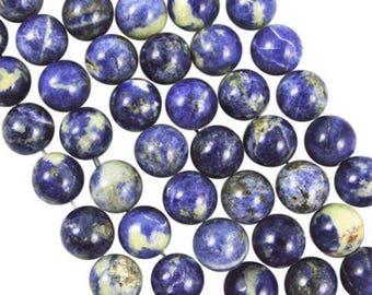 10 x 4mm SODALITE round beads