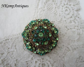 Large rhinestone brooch 1950's