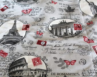 Coupon monuments70x50 cm upholstery fabric