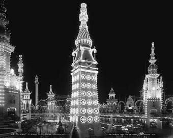 1905 Night in Luna Park, Coney Island, N.Y.