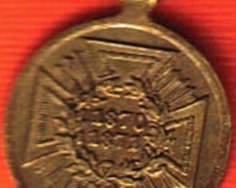 Kriegsdenkmünze Für Die Feldzüge 1870–71 Miniature Medal to be worn on a Frackkette