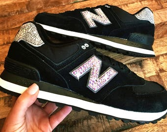New Balance 574 - Swarovski New Balance - Bling New Balance - Bling Shoes - Blinged Shoes - Swarovski shoes-Custom Shoes