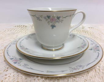 Royal Doulton, Classique, Tea Cup and Saucer with Bread and Butter Plate, dinnerware
