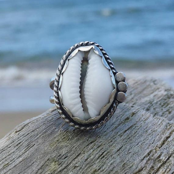 cowrie love ring - made to order