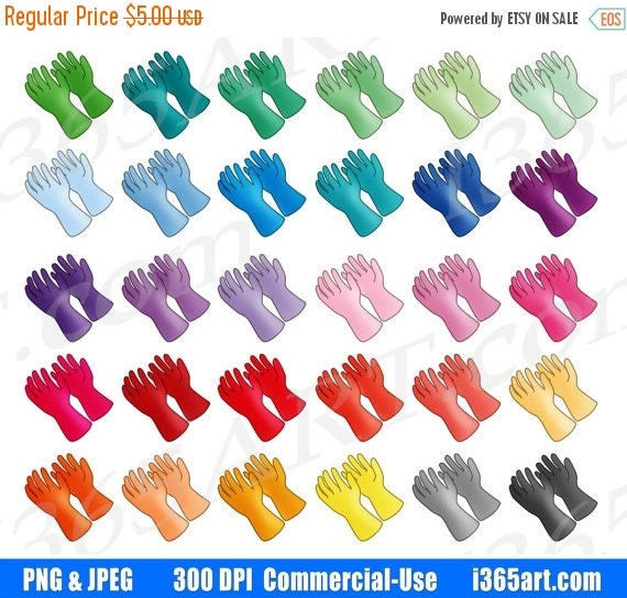 50 OFF Rubber Gloves Clipart Cleaning Clip Art Medical Kitchen Bathroom Cleanup Planner Icons PNG Commercial From I365Art On Etsy