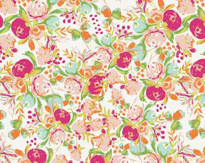 Flowerfield in Sunrise- Knit- Wild Bloom by Bari J. for Art Gallery Fabrics
