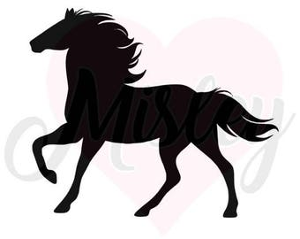 Horse Silhouette SVG, PNG, and STUDIO3 Cut Files for Silhouette Cameo/Portrait and Cricut Explore DIY Craft Cutters