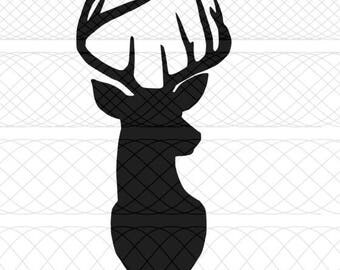 Deer Head SVG & PNG Cut File for Silhouette Cameo/Portrait and Cricut Explore DIY Craft Cutters