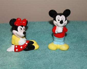 Vintage Disney Mickey & Minnie Mouse Salt and Pepper Shakers