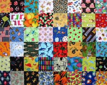 "48 I SPY  5"" Quilt Fabric Squares Pre-Cuts Charms blocks kit"