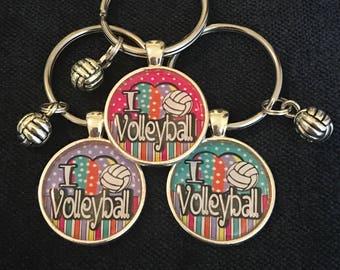 Volleyball Keychain Volleyball Gift