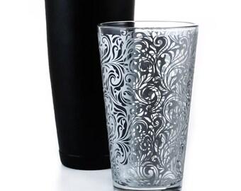 Mixing Glass - Silver Swirl (16oz)