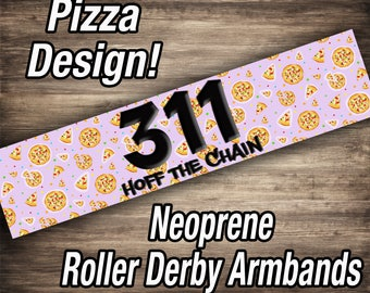 Roller Derby Arm Bands - Pizza Design