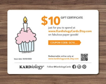 Gift Card 10 DOLLARS - Kardiology Cards