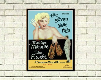 Reprint of the Vintage Marilyn Monroe Movie Poster - 7 Year Itch