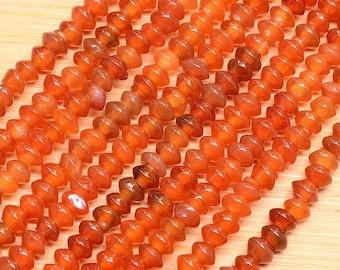 4mm  Orange Agate Rondelle Beads  Full Strand  4x4x2mm Rondelle Beads