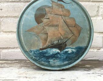 Vintage Sailboat Tin