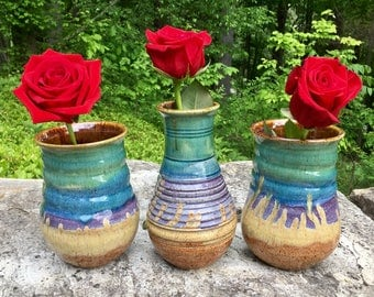 Rainbow Ceramic Vases