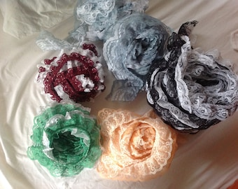 Double ruffled lace, multiple colors