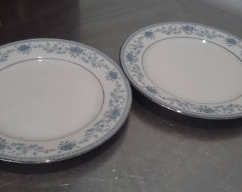 2 Noritake Blue Hill Tea Side Salad Plates