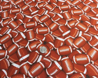 Sports Football Brown Cotton Timeless Treasures Fabric #6795 By the Yard