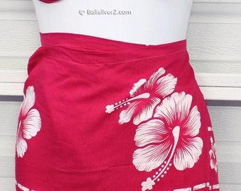SUMMER SALE Sarong Pareo Beach Cover-Up Wrap Dress Skirt Hawaiian  Flower color set
